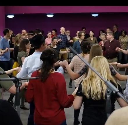 Moldvai csángó és gyimesi táncház